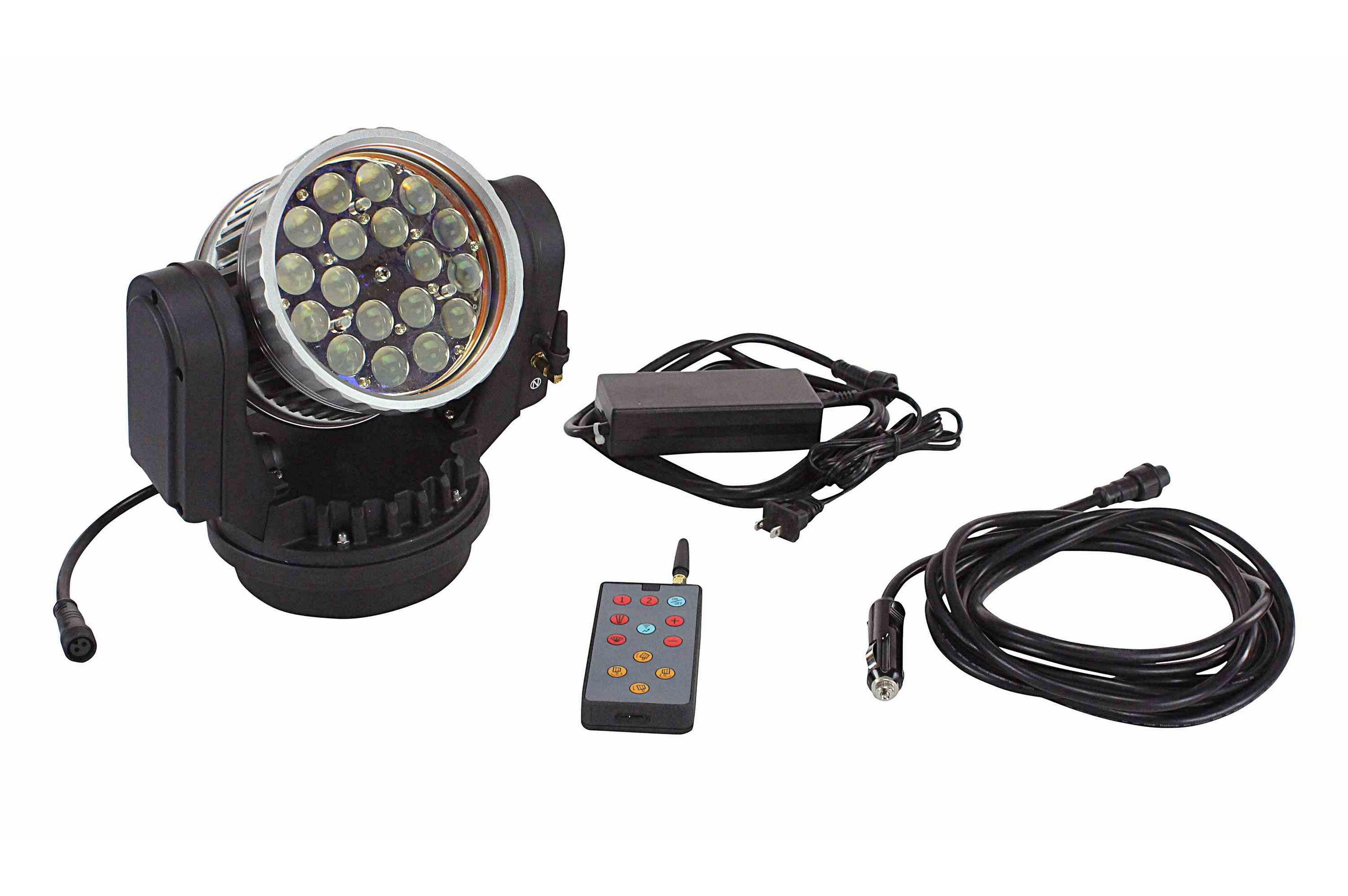 40 watt wireless remote control led spotlight 12 volt dc or 120 220v ac spot to flood. Black Bedroom Furniture Sets. Home Design Ideas