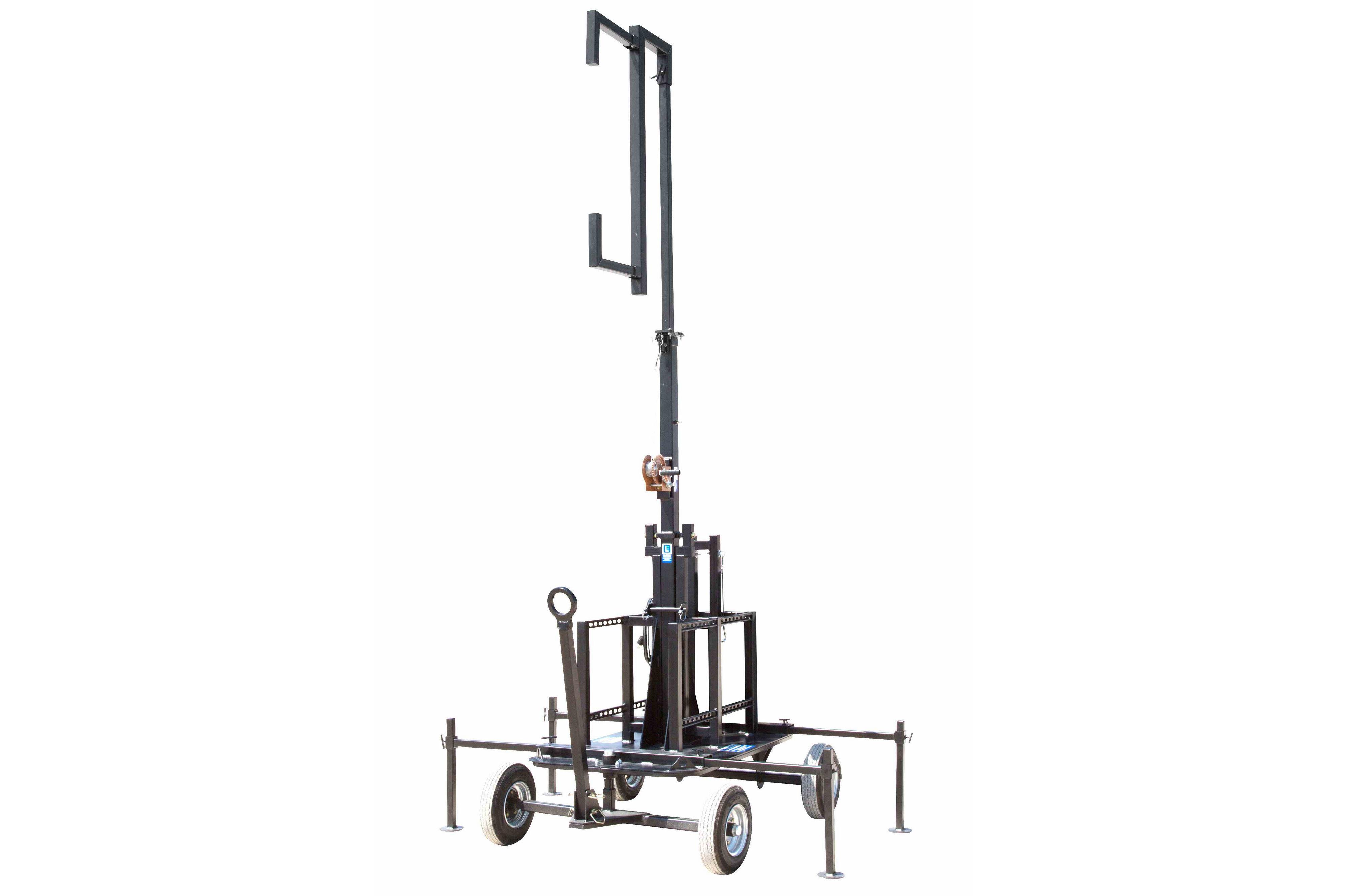 Crank Up Mini Antenna Tower - Wheeled Cart Base - 7'-12' Light Mast - Mount  Antennas and Amplifiers