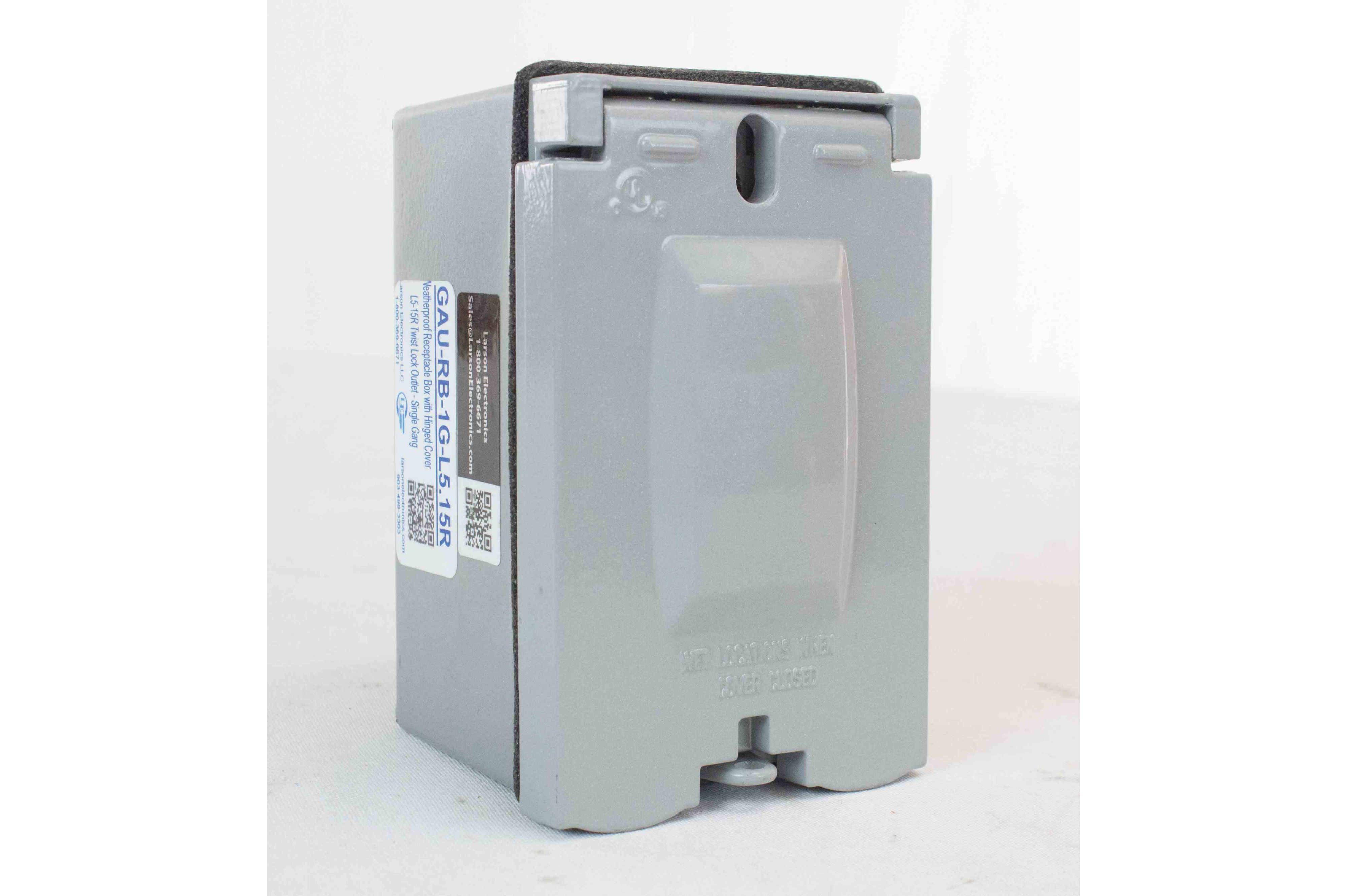 Weatherproof Receptacle Box With Hinged Cover L5 15r Twist Lock