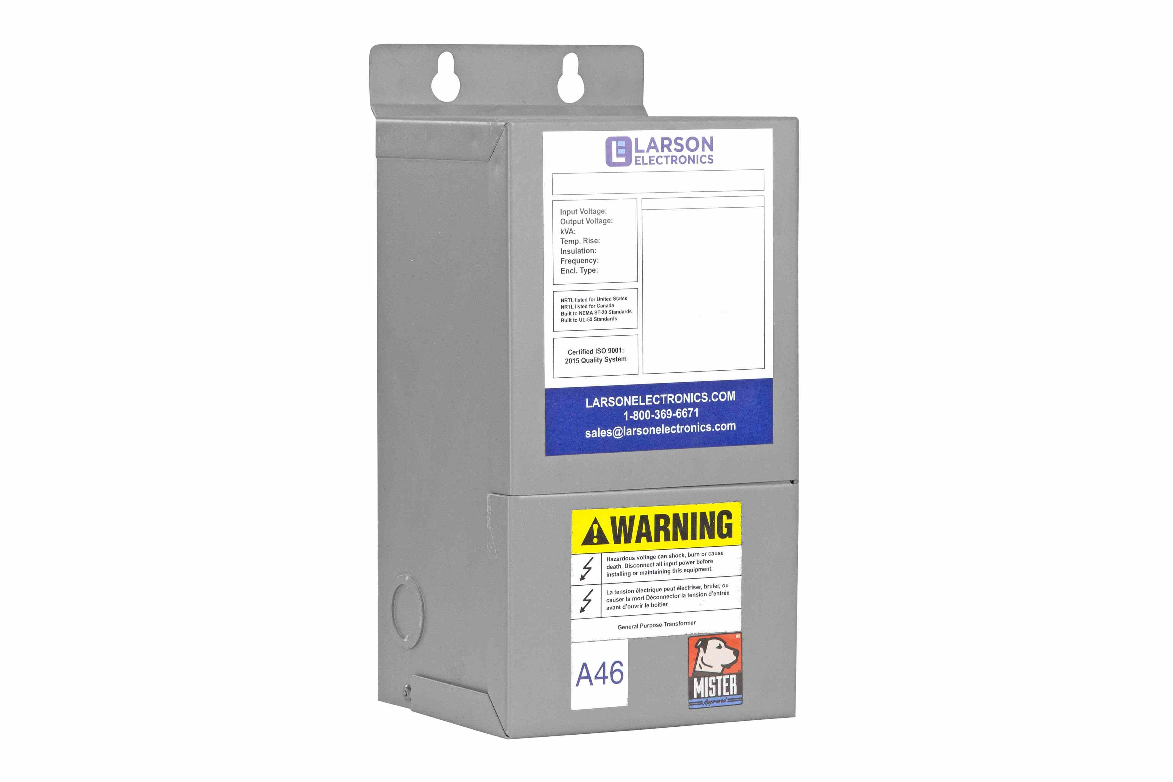 1 Phase Buck & Boost Step-Down Transformer - 220V Primary - 200V Secondary  at 16 Amps - 50/60Hz