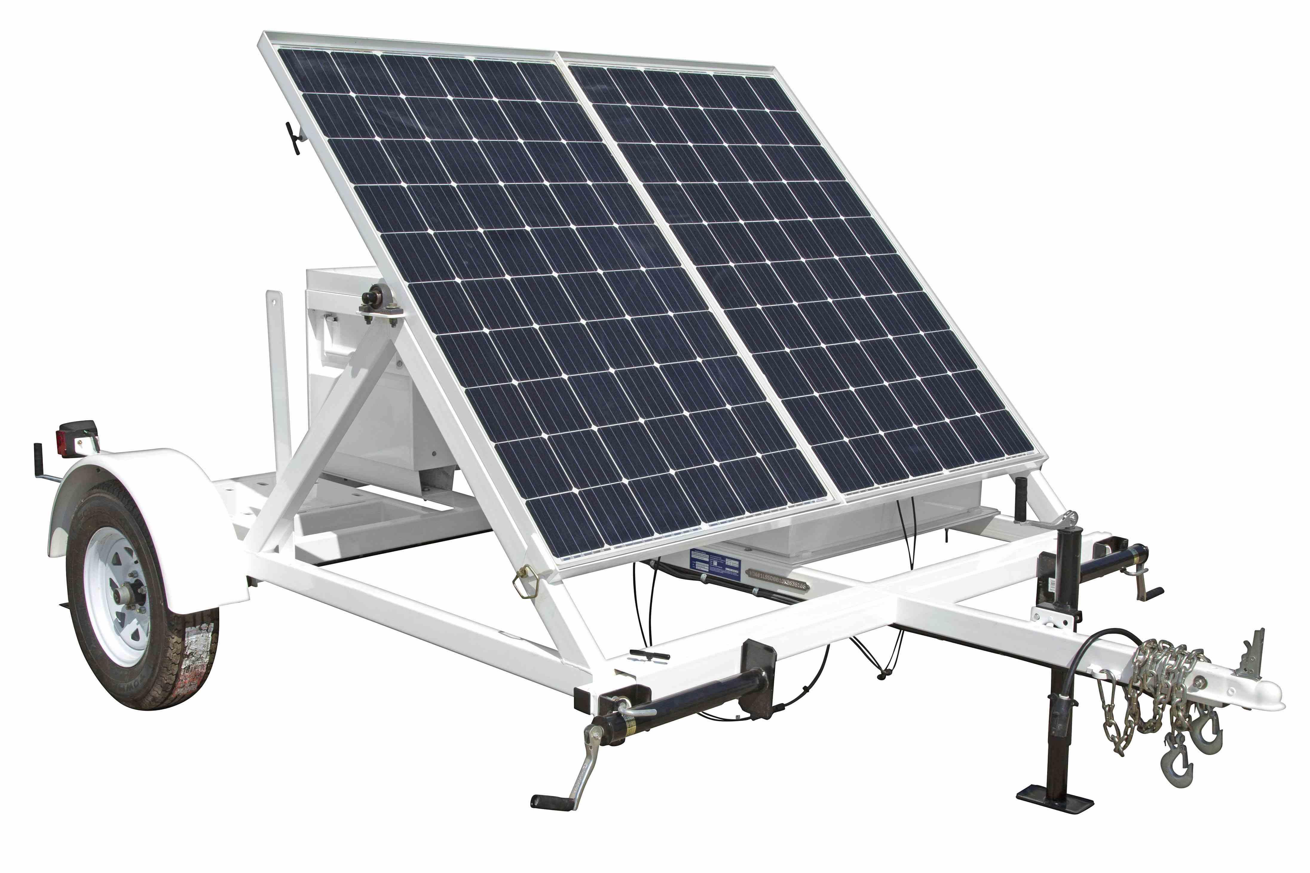 Larson Electronics 0 53kw Portable Solar Power Generator 10 39 Trailer 24v 500ah Battery Bank 1 Job Box