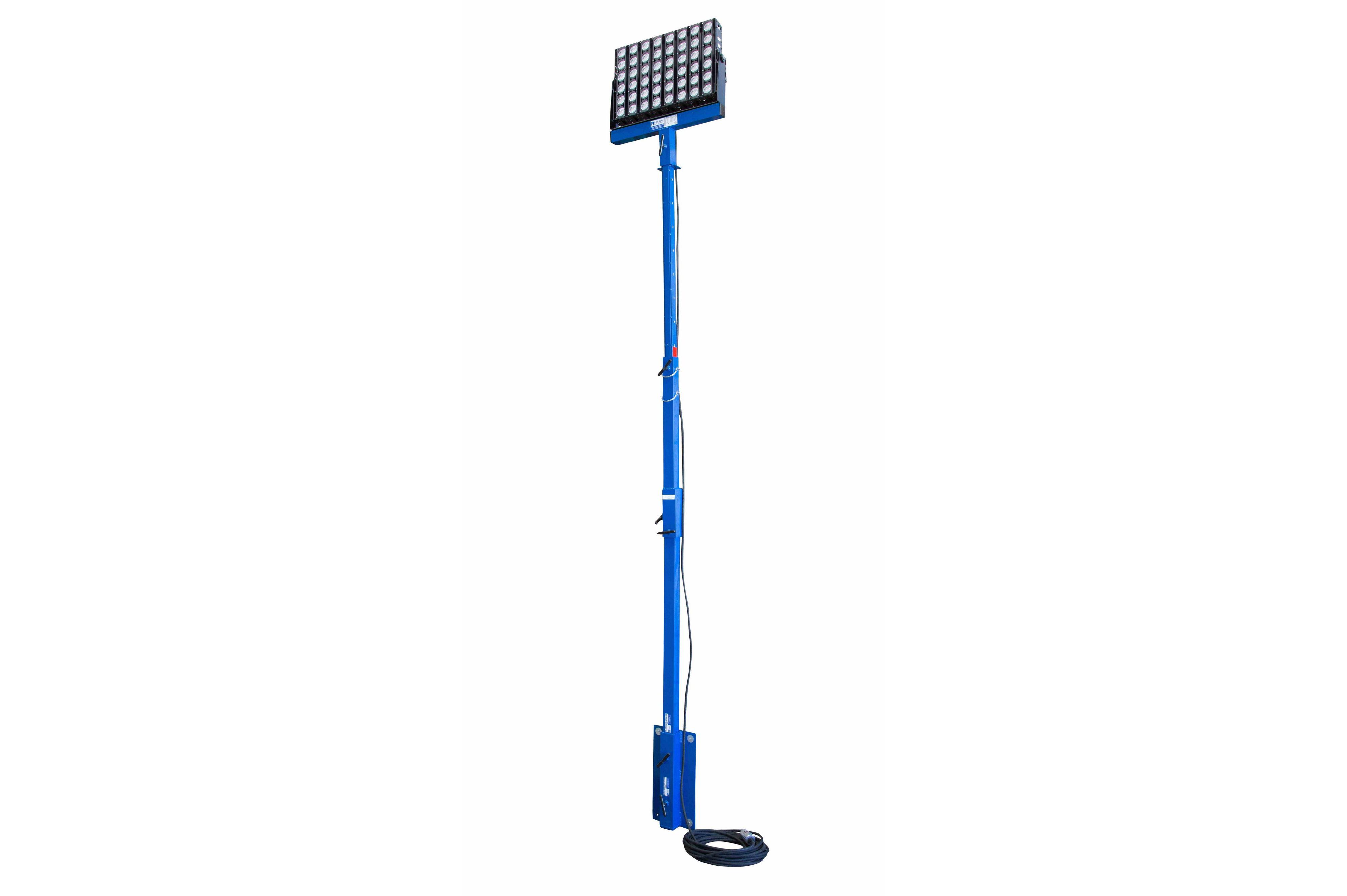 160 W varrastega LED valgustitorn