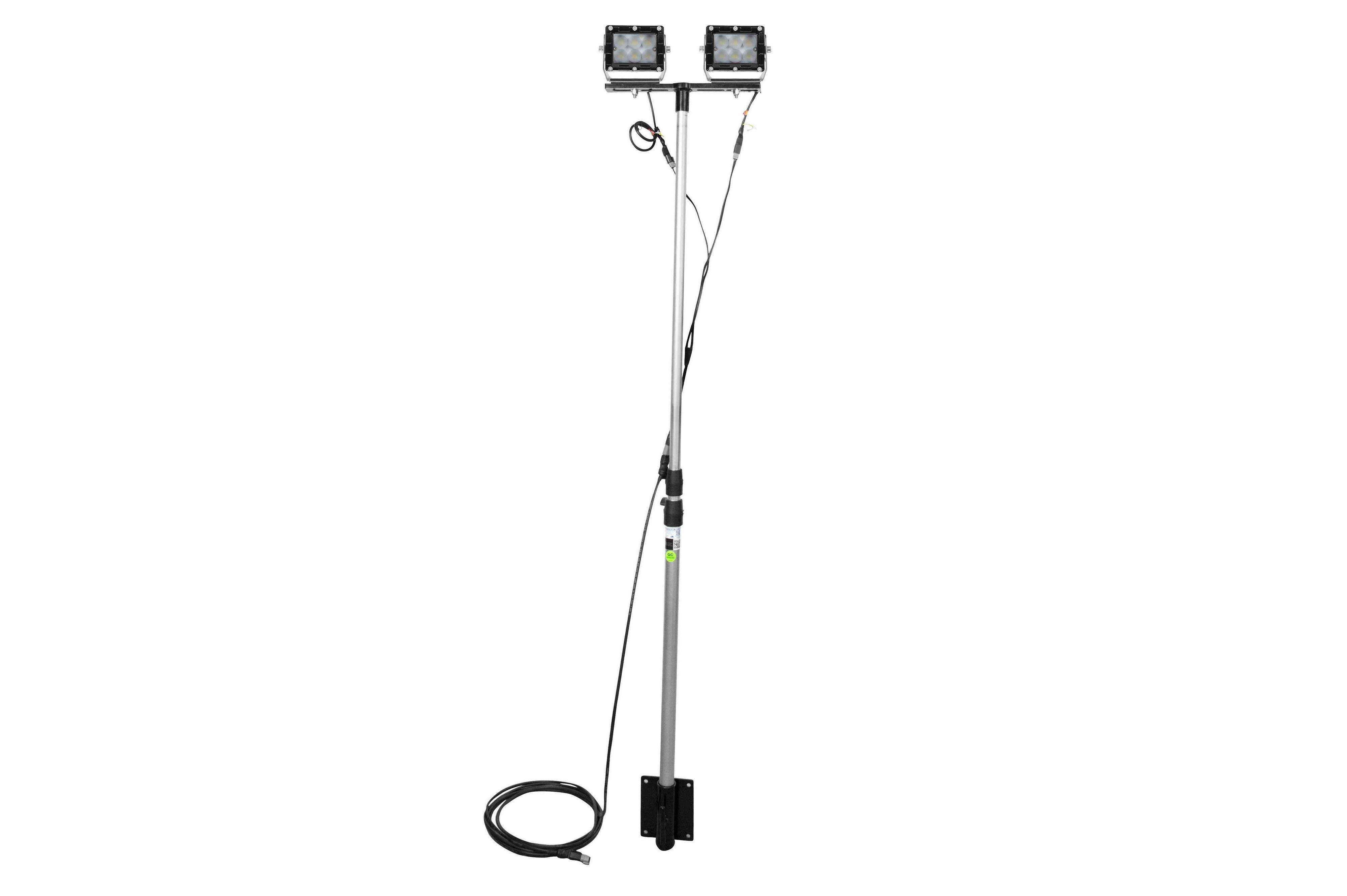 60w led pole light -  2  led lamps