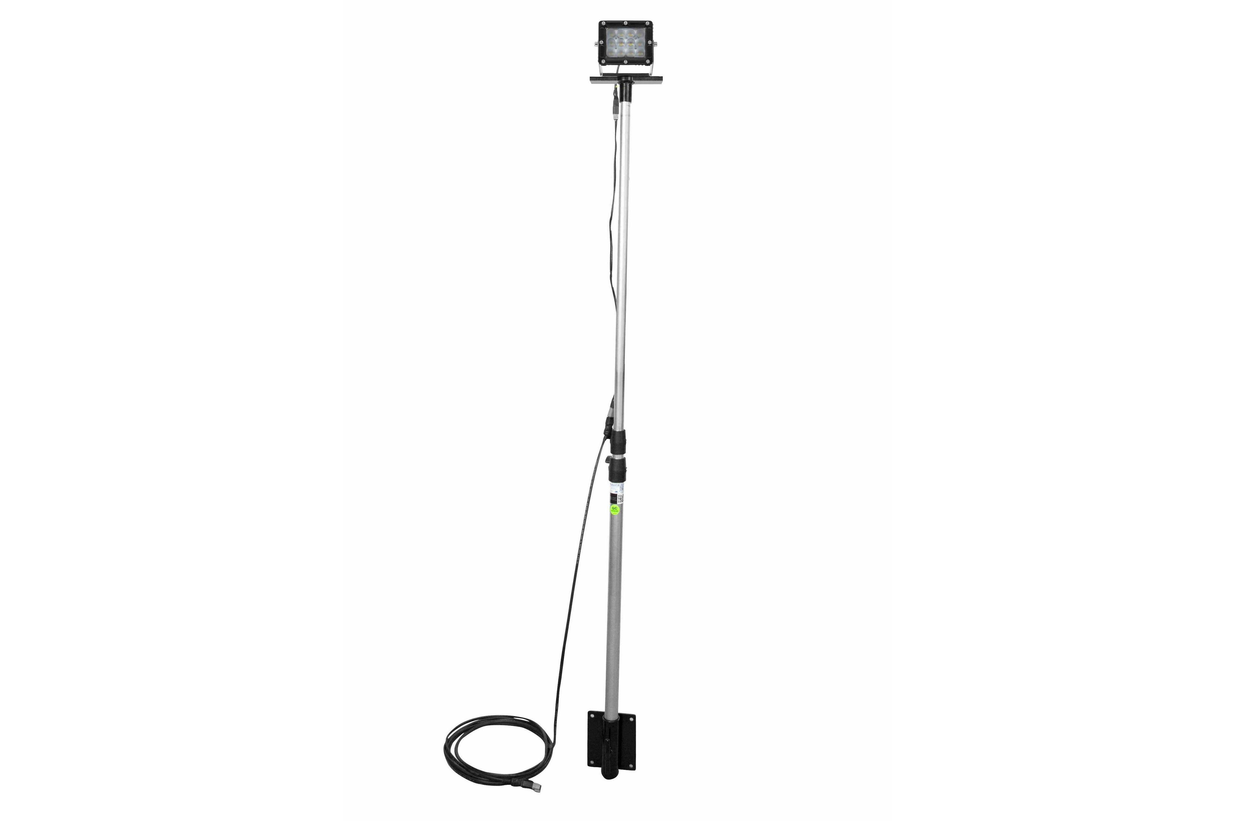 larson electronics - 60w led pole light - 3 u0026 39  to 8 5 u0026 39  adjustable - 9-64v dc  2 wiring
