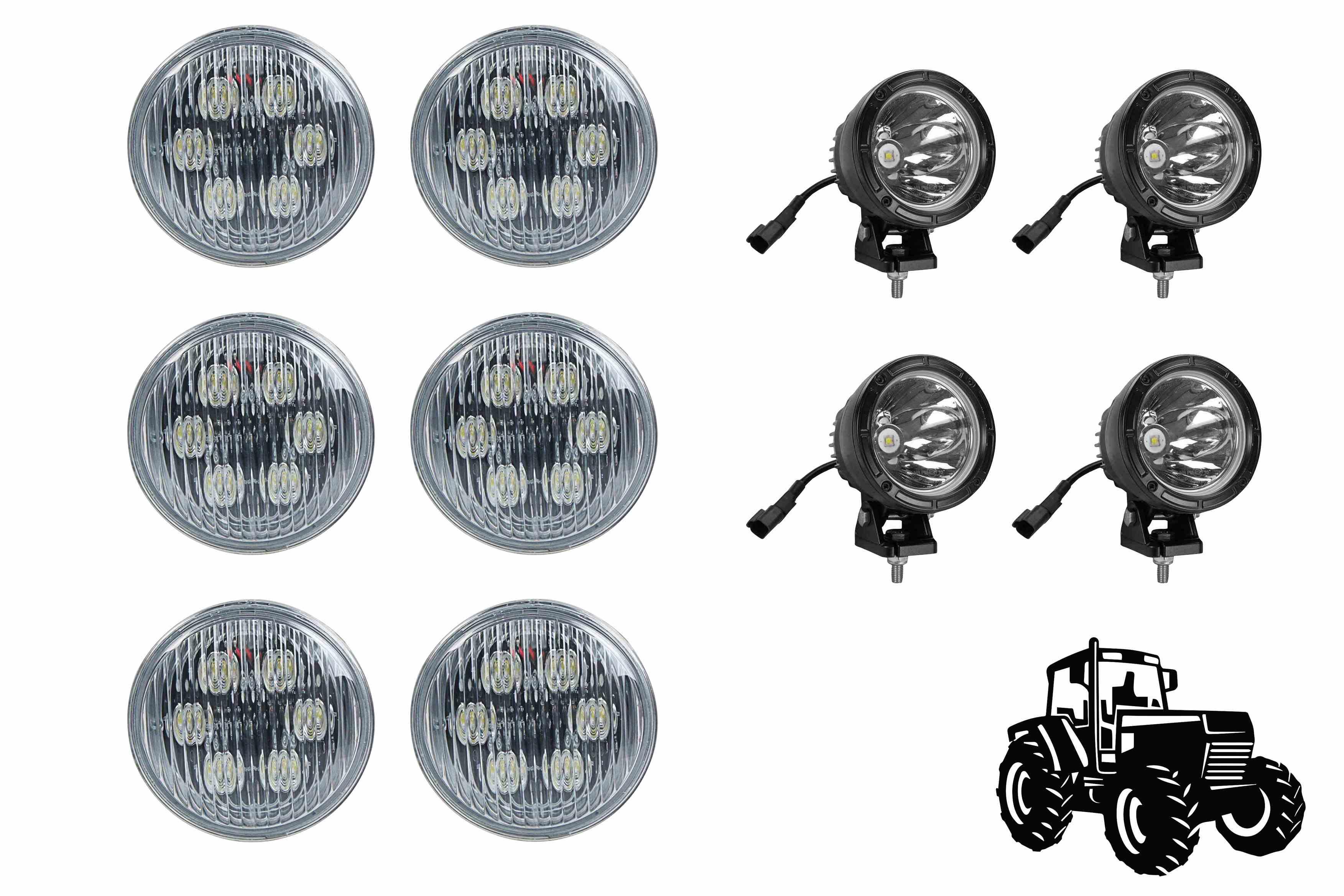LED Cab Light Upgrade Kit for John Deere 4230 Tractors
