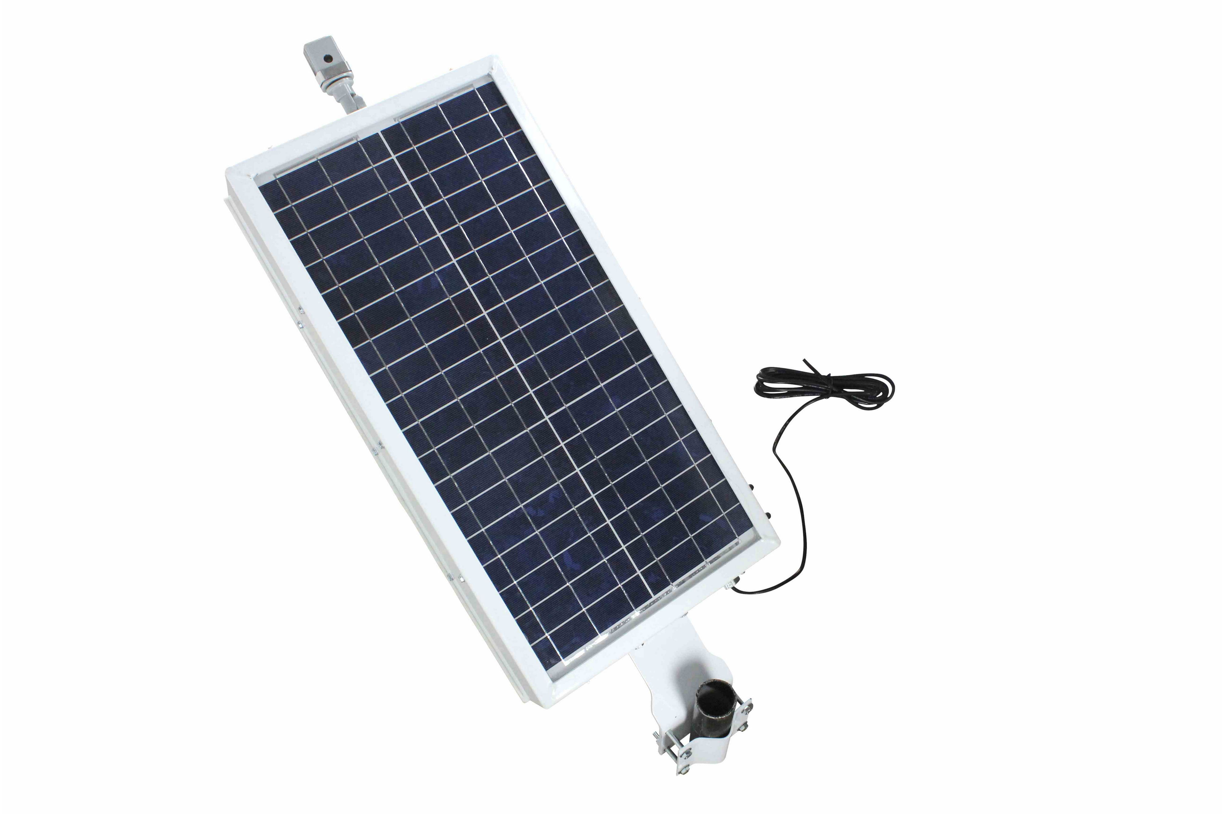 Solar Panel Powers Lights Cameras Remote Equipment 10 16 2 Charger Further Off Grid Power System Also Street Light Circuit Hi Res Image Powered Led Beacon
