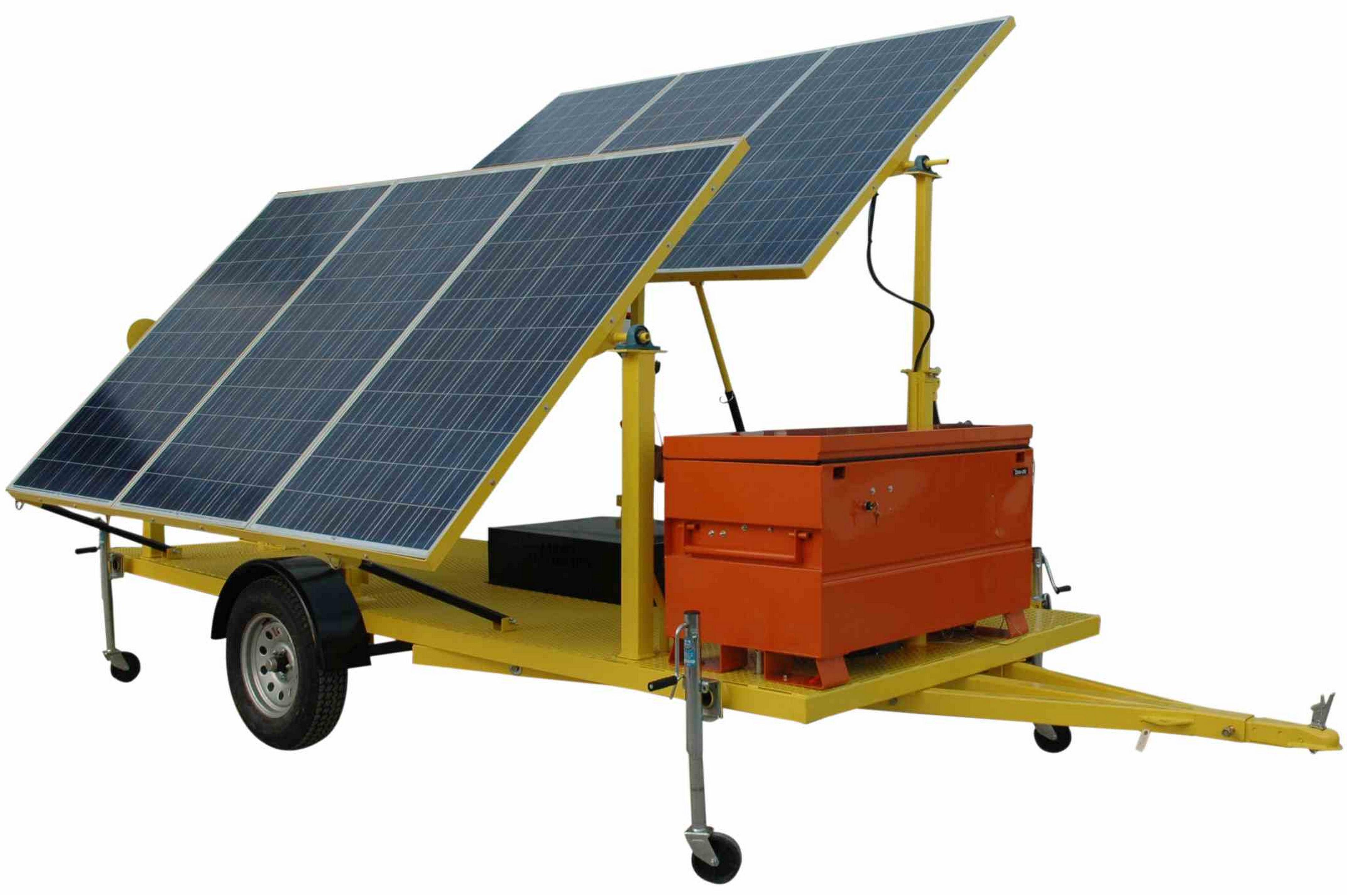 Larson Electronics 1 8kw Solar Power Generator 120v Output 6 300 Watt Panels Completely Solar No Fuel Needed