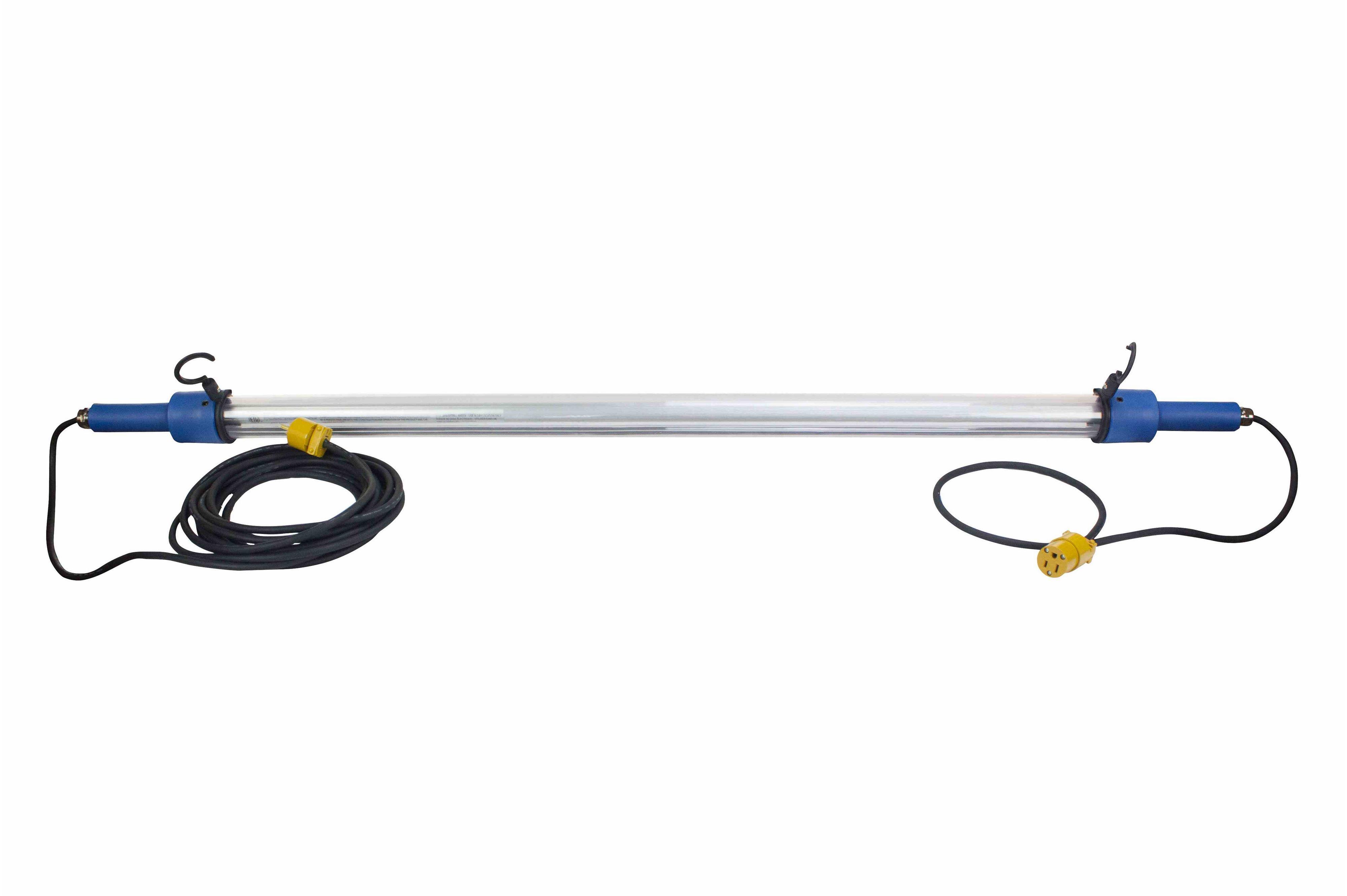 28w led drop light  task light - 25 u0026 39  cord - inline switch - 5 u0026 39  tube