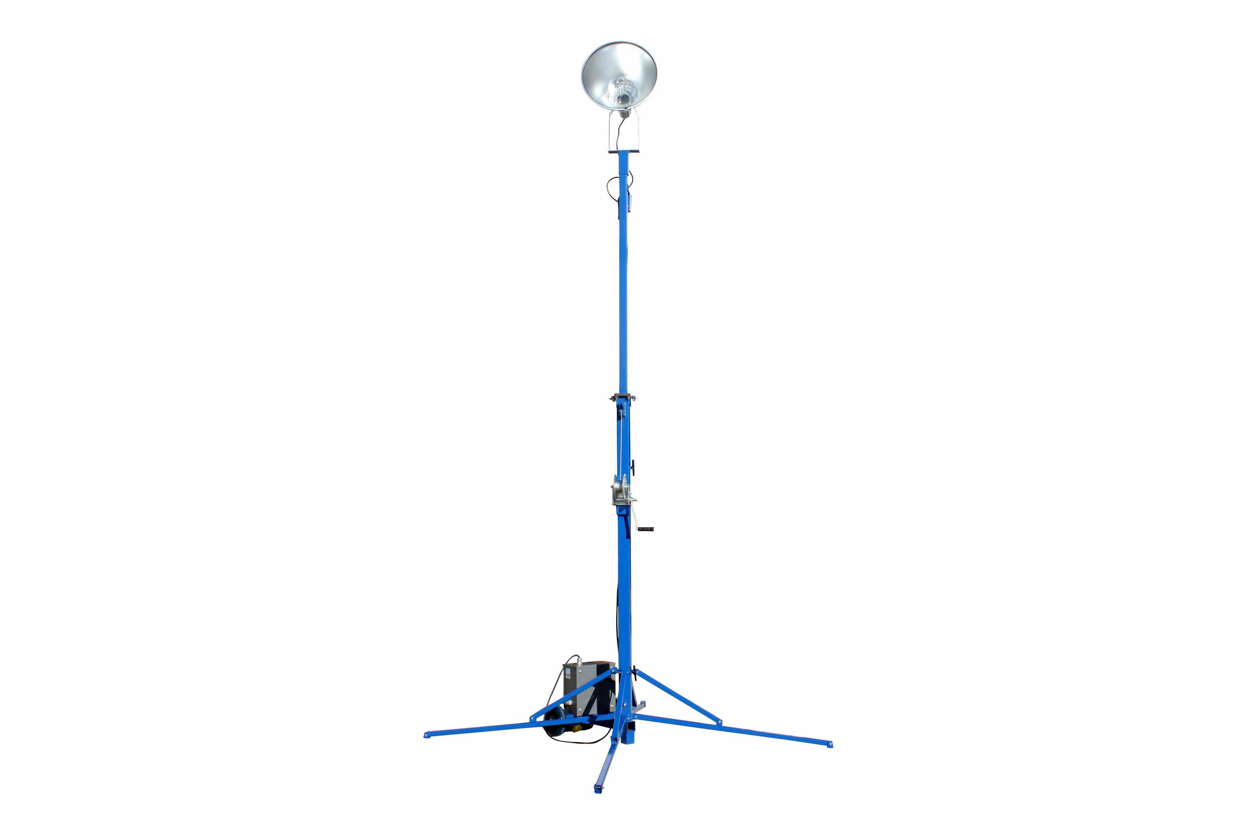 400 Watt Portable LED Light Tower Extends to 20 feet Covers 49 000 SF