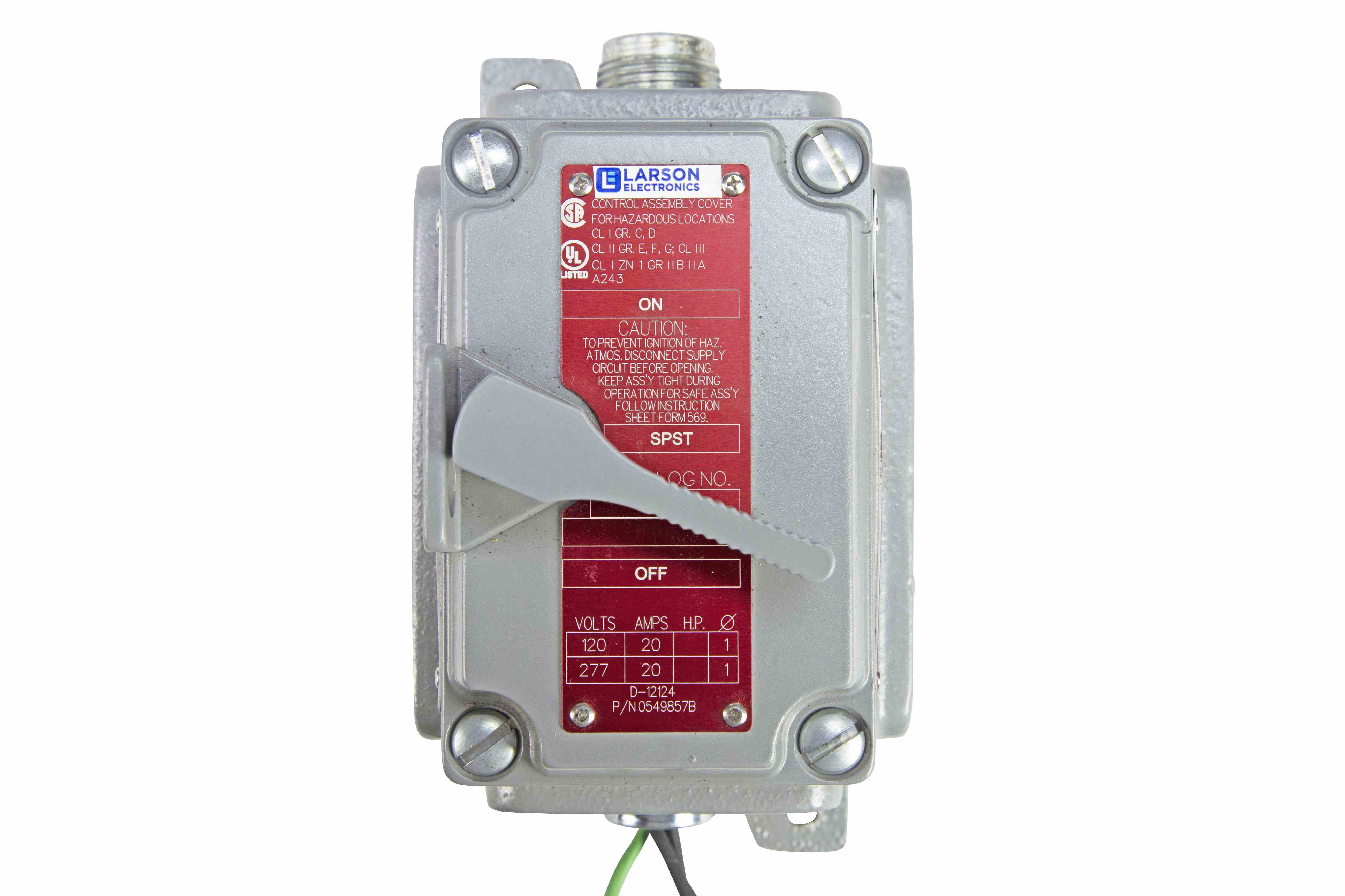 Explosion Proof Three Way Switch Class I Div 1 2 Ii 3 Electronics Hi Res Image