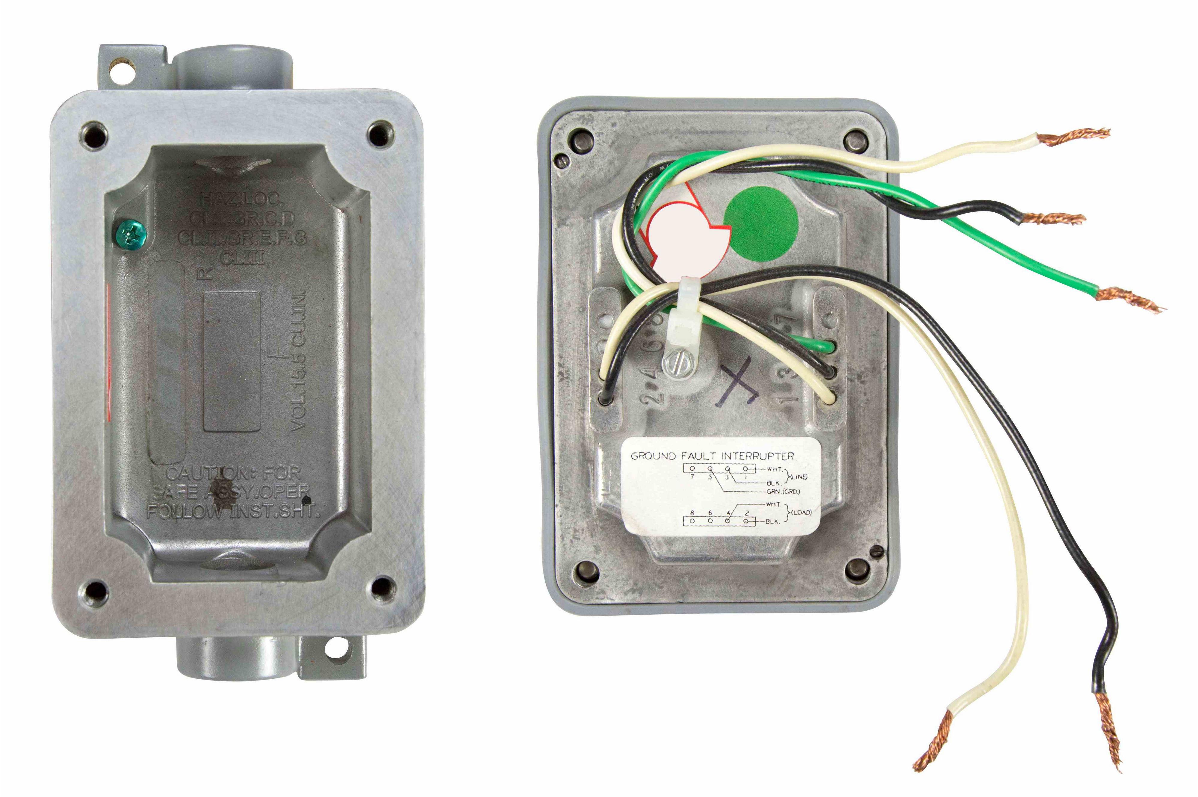 Explosion Proof 20 Amp Ground Fault Circuit Interrupter Interruptor Hi Res Image 3