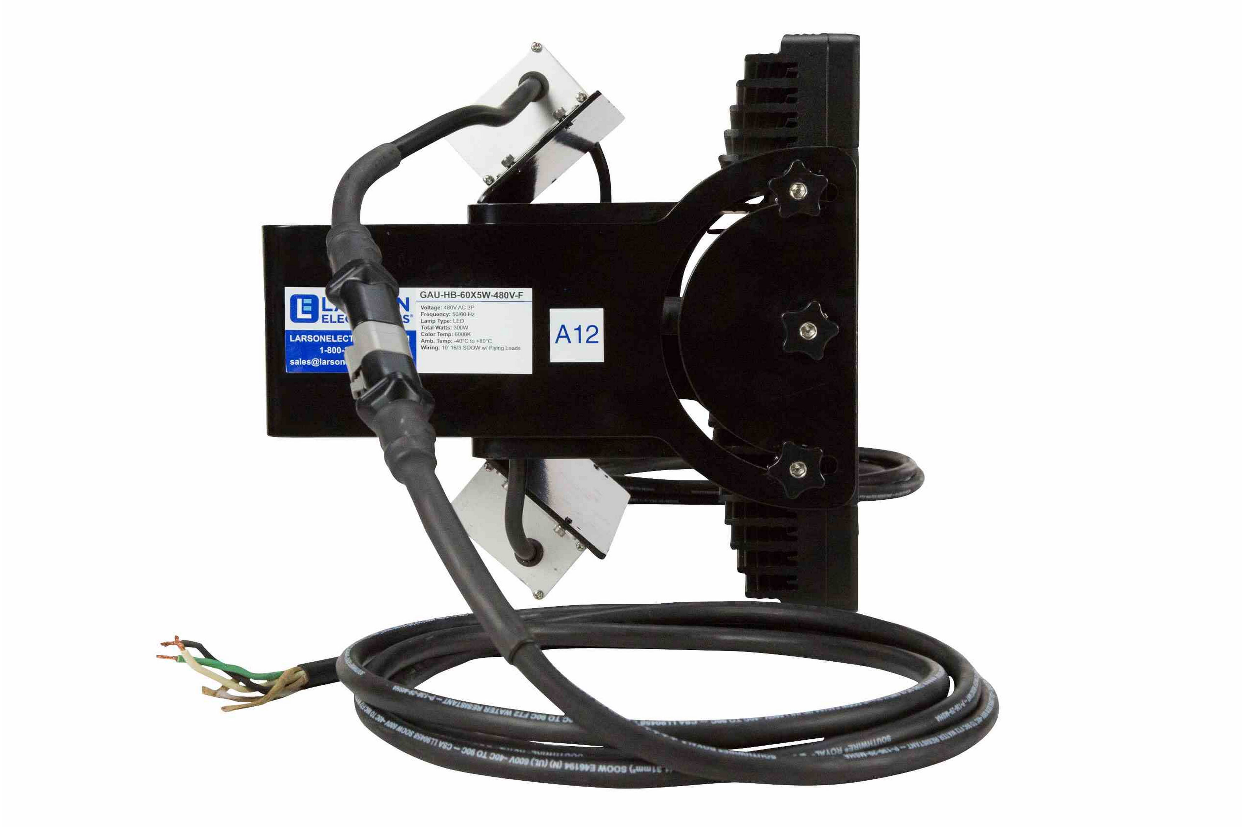 300 Watt Led Crane Rough Service Fixture 480v Ac 1000w Metal In Refers To The Installation Of Electrical Wiring Hi Res Image 3 Side