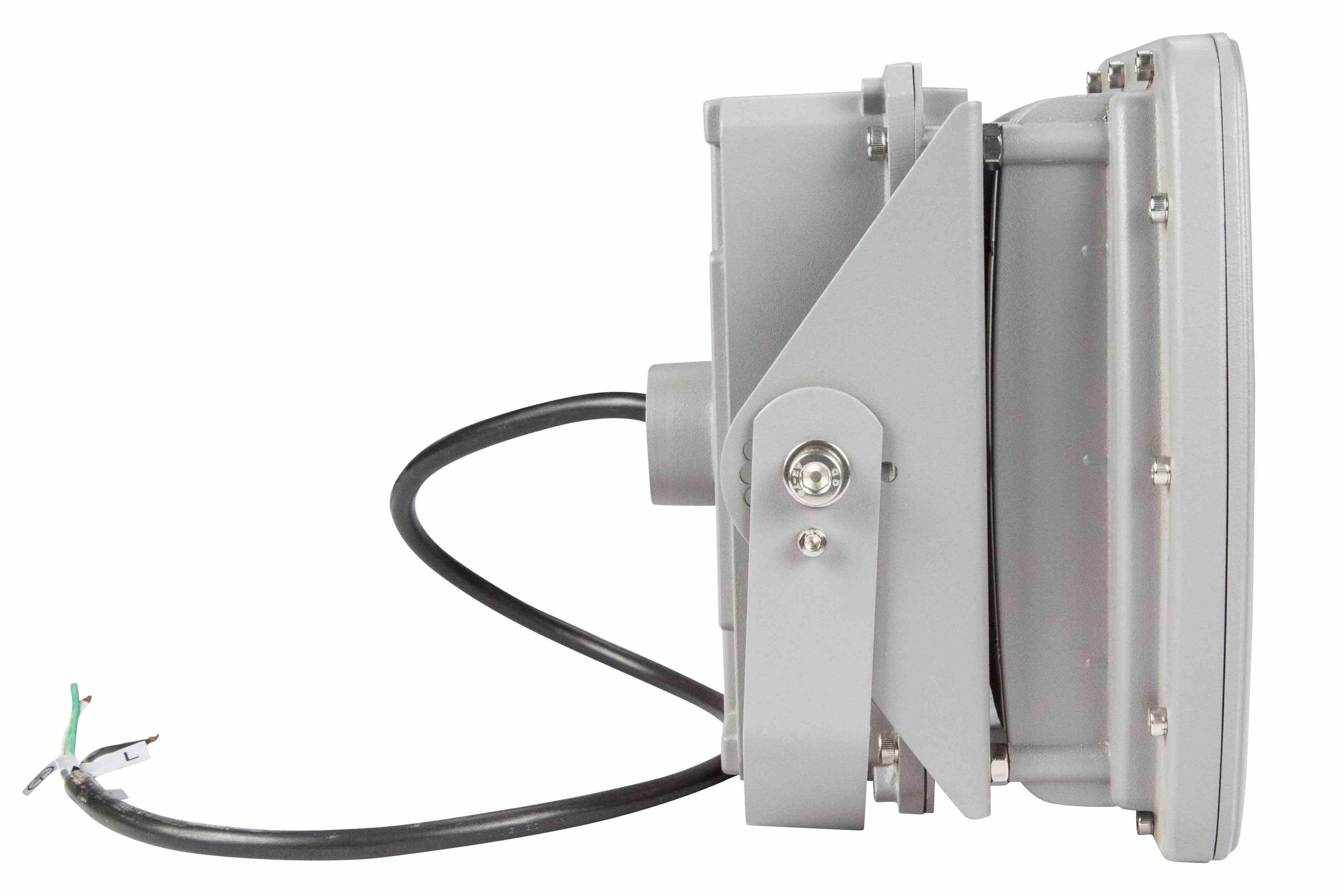 40 Watt Hazardous Locations Low Profile Led Light Fixture Class 1 Wiring 2 White Black Hi Res Image 4 Back Angle