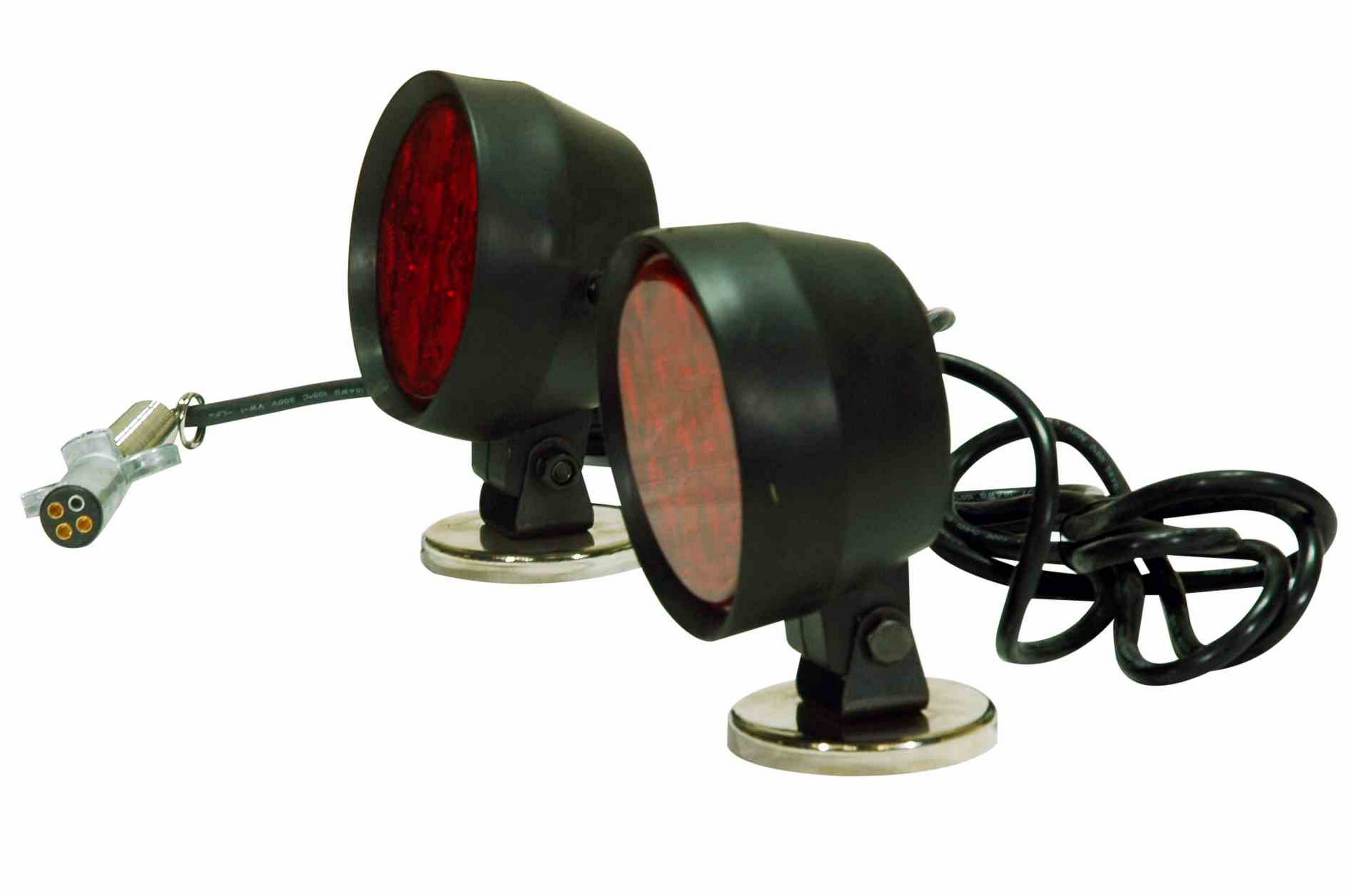 Led Tow Lights With Magnetic Base 30 Cable Weather Proof 12vdc Military Trailer Plug Wiring Diagram Hi Res Image 4 Right Side View Of The Heads And Cords