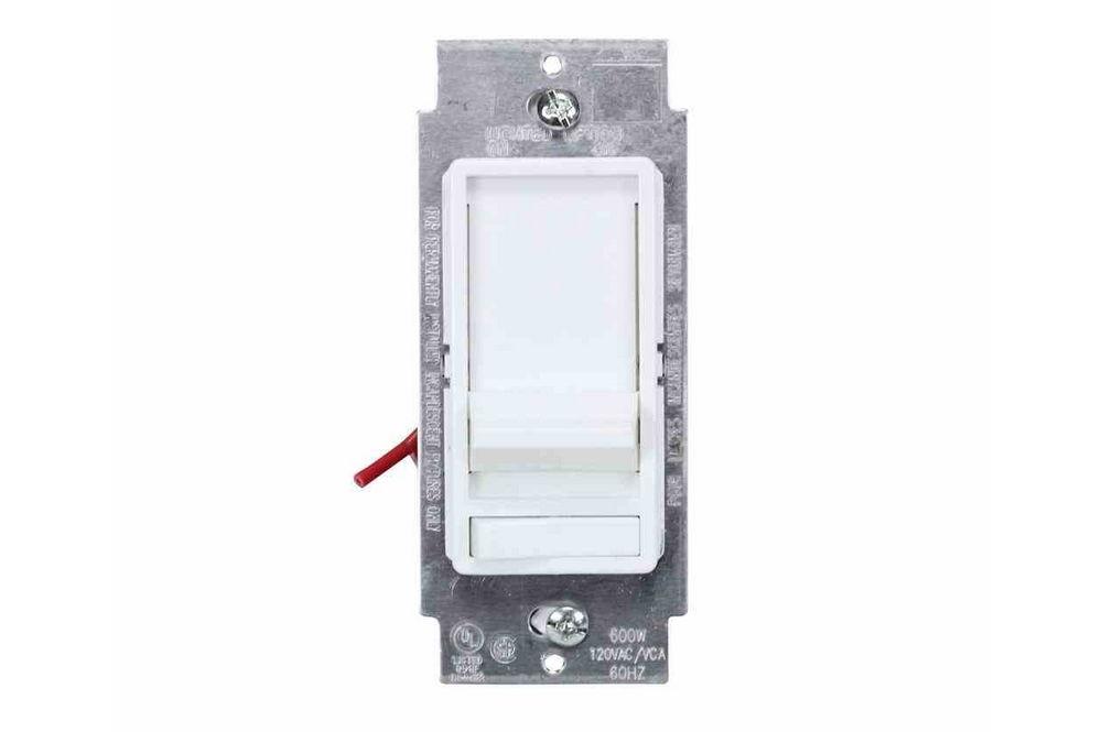 120v Dimmer Switch For Led Light Fixtures 600 Watt Rated Electro Mechanical Slider Switch