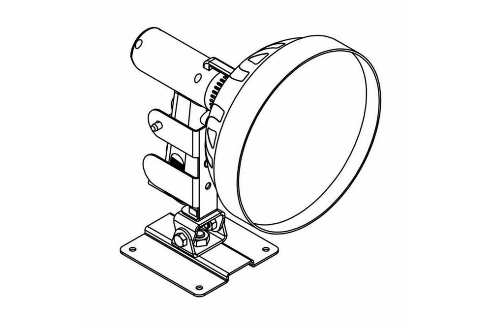 Permanent Mounting Base For Hl 85 Cpr Series Of Spotlights