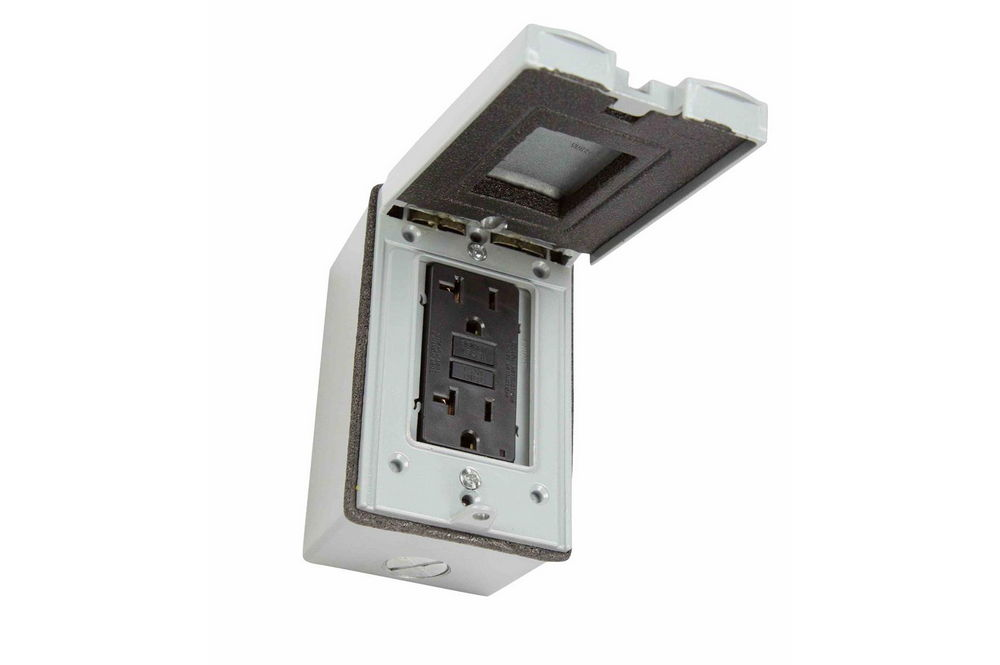 Weatherproof Duplex Receptacle Box With Hinged Cover 2 5 20r 20