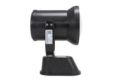 Motorized Remote Control HID Spotlight - 3200 Lumens - Side View