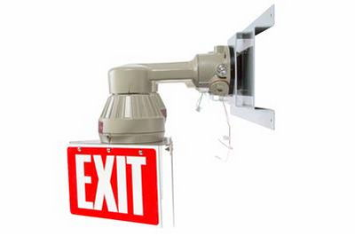 Emergency Lighting System - Explosion Proof Bug Eyes Exit Sign