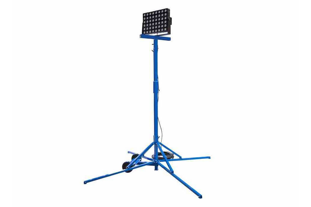 500 watt work area led light tower - quadpod mount
