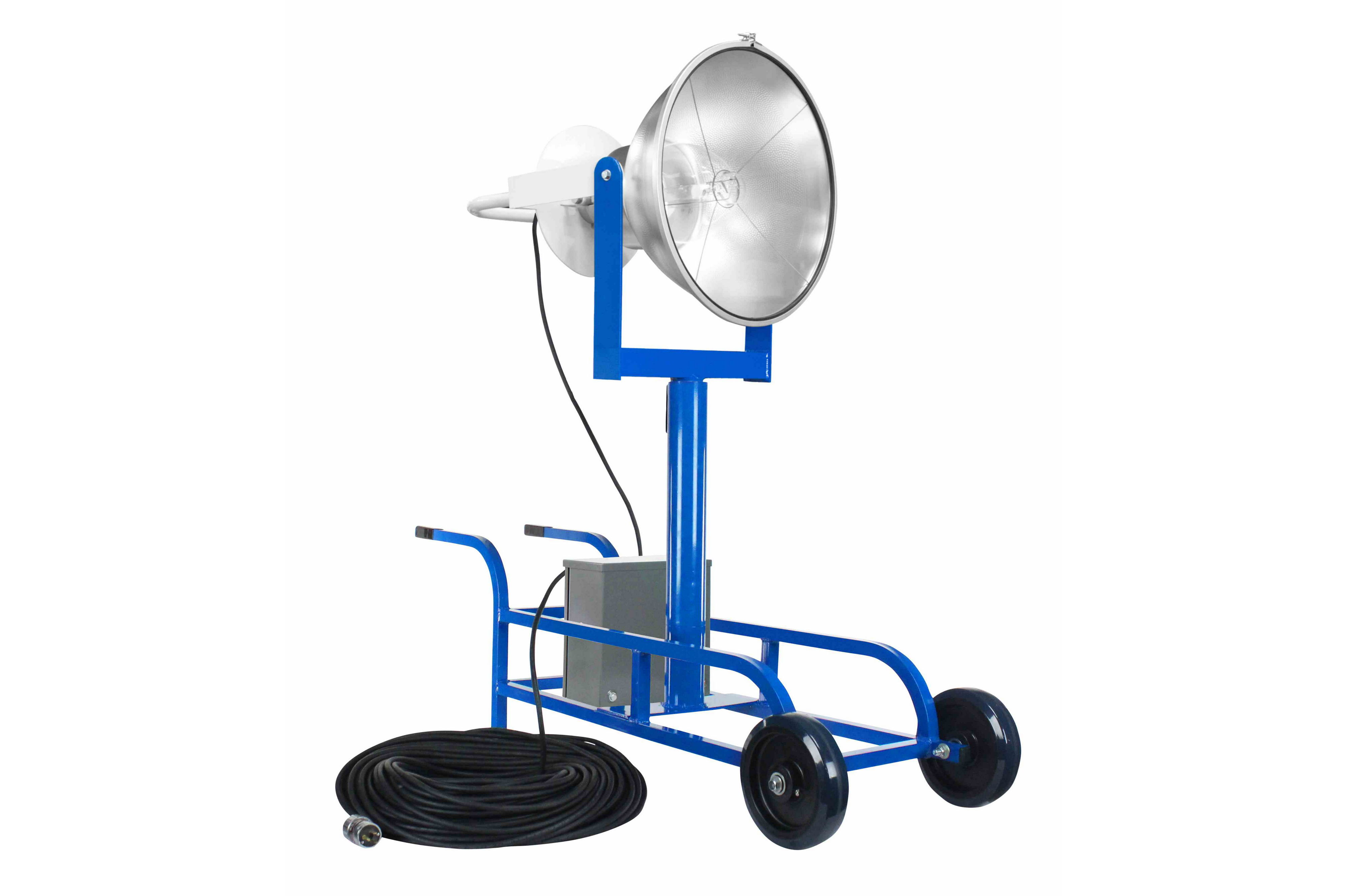 Portable Metal Halide Lights : W metal halide searchlight portable wheelbarrow cart