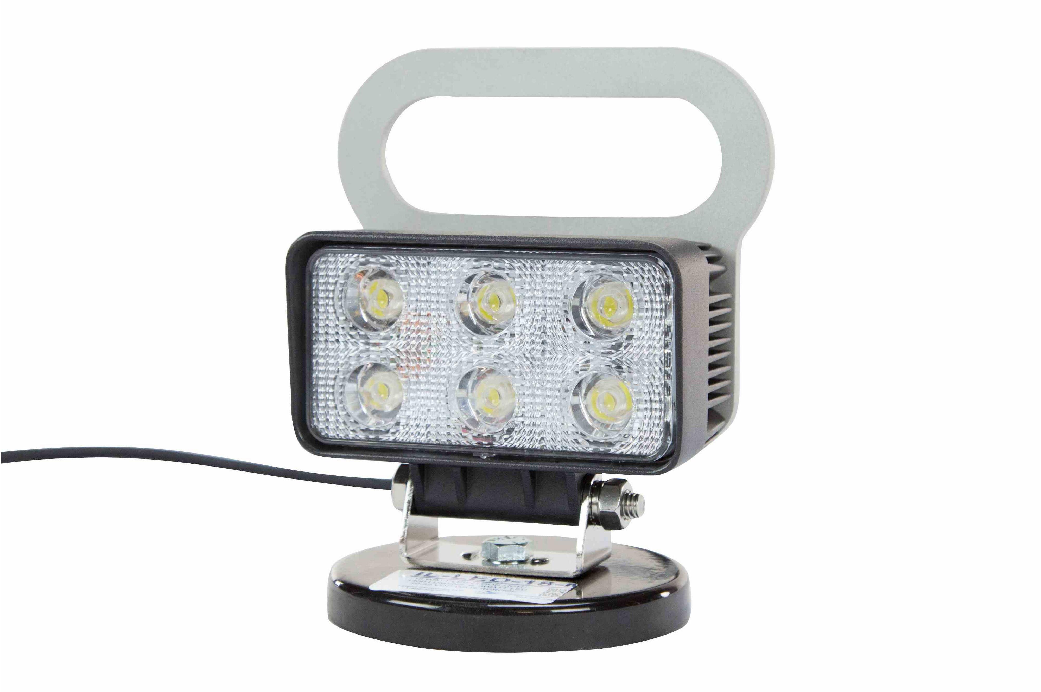 18 watt led flood light magnetic base 1400 lumens six 3 watt leds 10 32 volt dc ip67. Black Bedroom Furniture Sets. Home Design Ideas