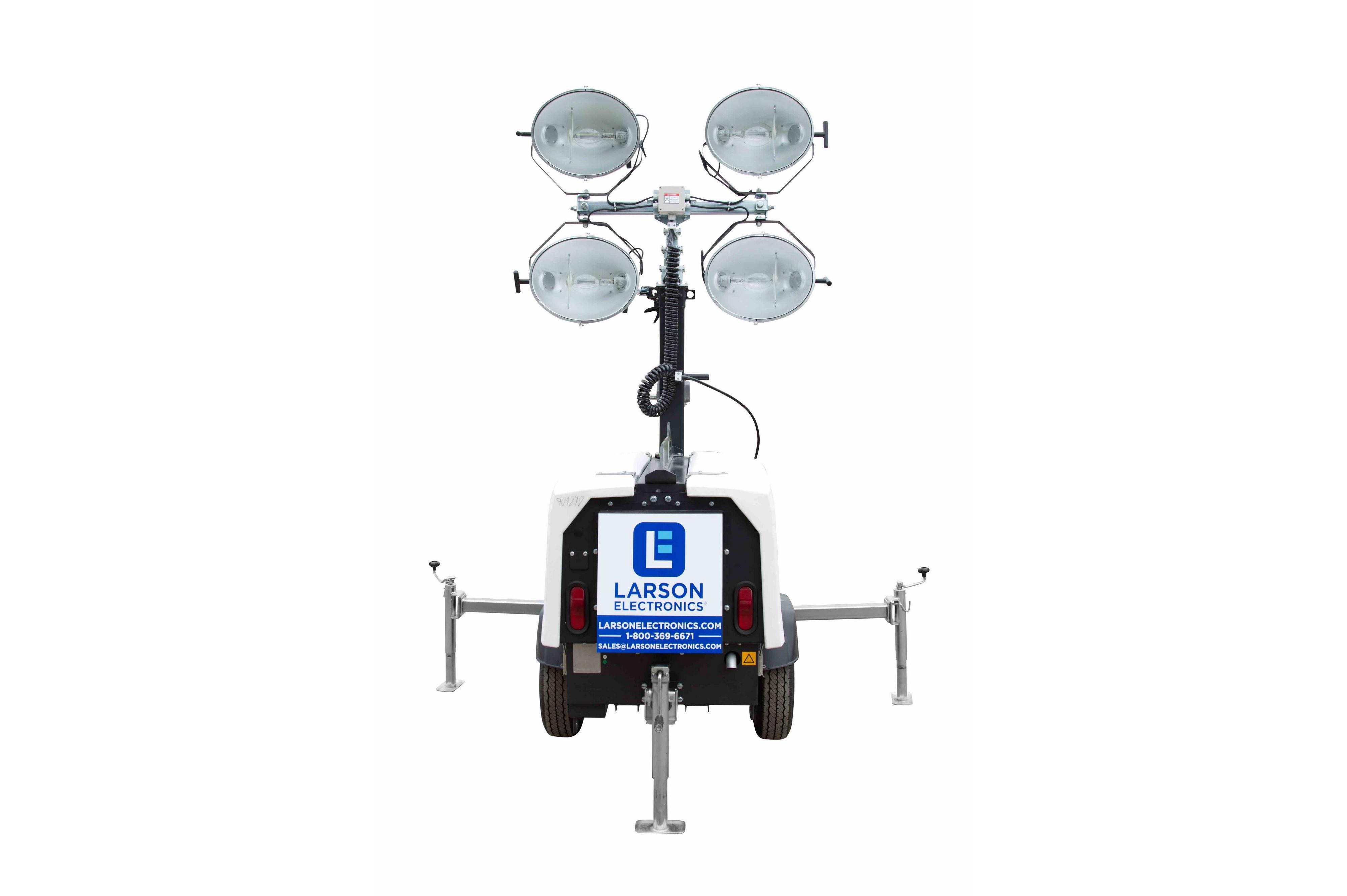 25 Mobile Light Tower with Diesel Engine Generator 4X1000 Watt