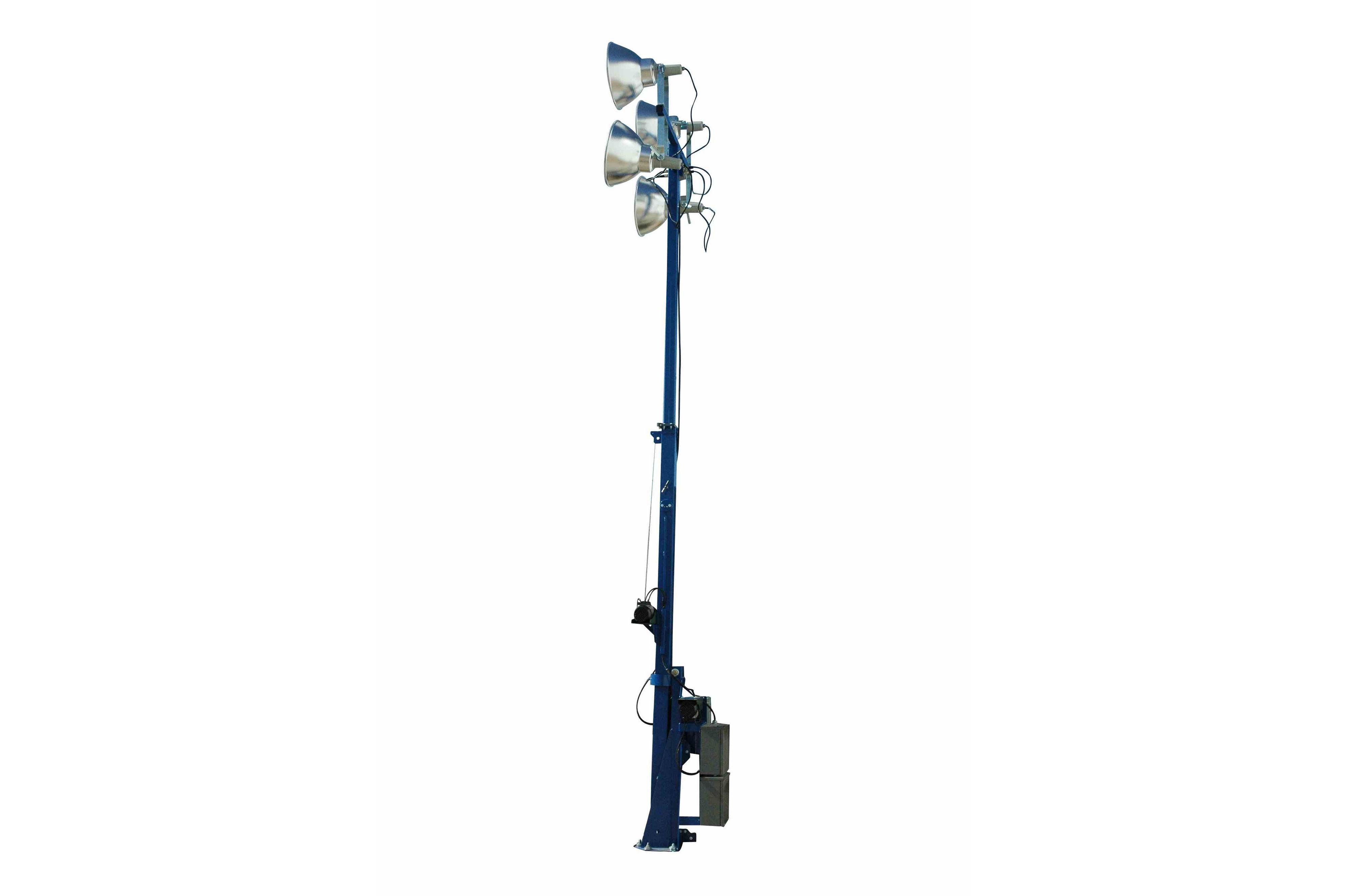 4000 watt 16 foot telescoping light mast fold over light. Black Bedroom Furniture Sets. Home Design Ideas