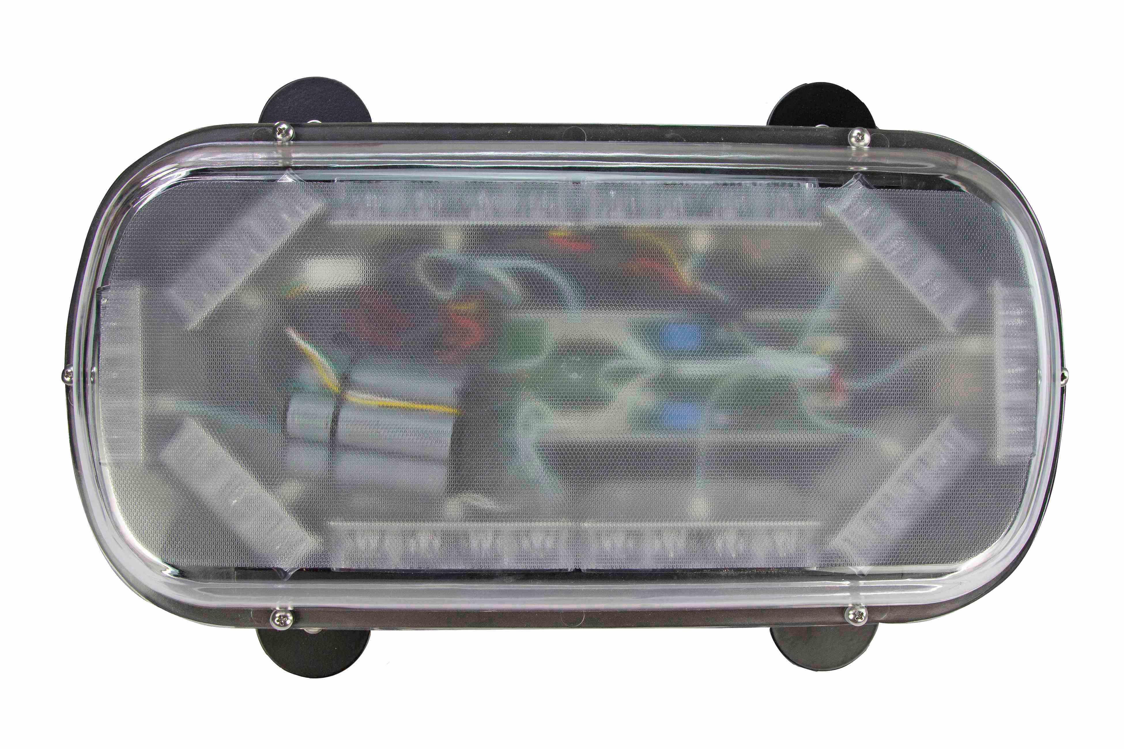 40w low profile led strobe light bar 4 magnetic mount feet 10 hi res image 4 mini led strobe light bar aloadofball Images