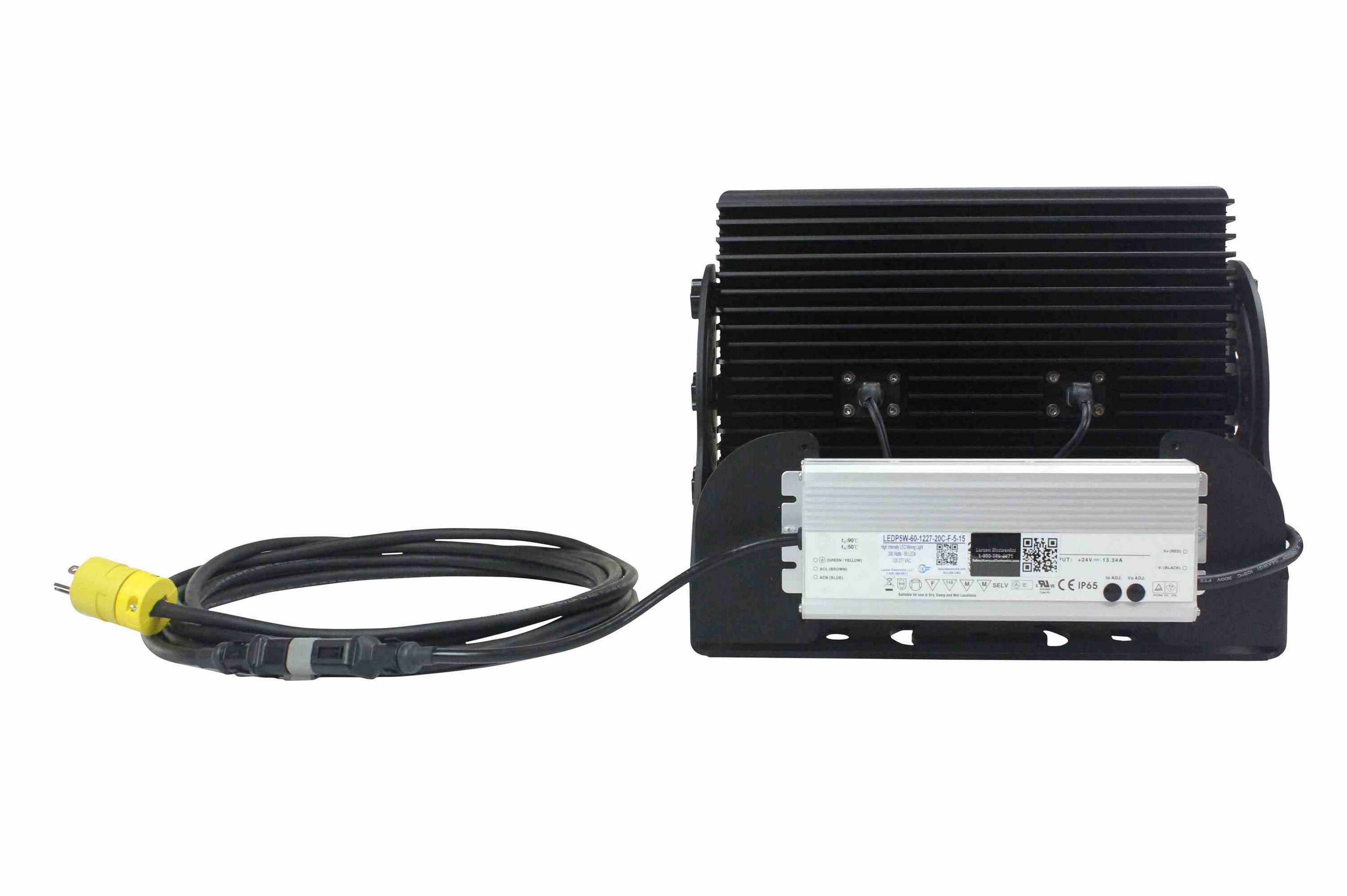 300 Watts High Intensity LED Light w/ 20 Cord and Wall Plug - 60 LEDs - 29,580 Lumens - 120 ...