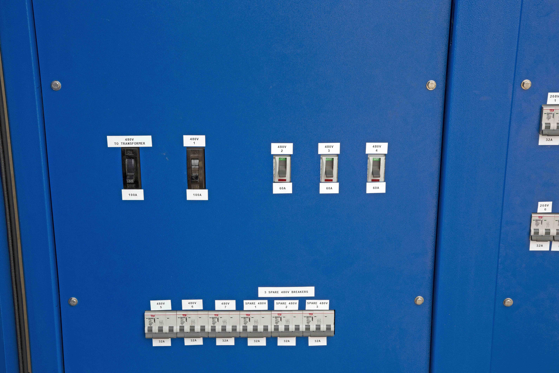 30kva Temporary Power Distribution 480v To 240d 120v 3ph 1 Light Wiring Diagram Hi Res Image 9 Underside Forklift Skids And Casters Of Panel