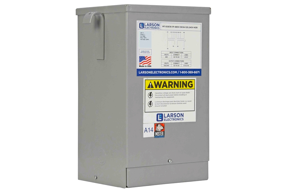 5 Kva Encapsulated Isolation Transformer - 120  208  240  277v Primary - 120  240v Secondary