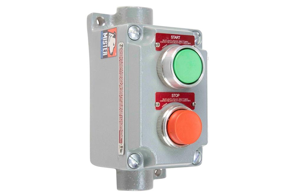 Explosion Proof Push Button Stop/Start Switch - Class 1 Div 1 & 2 - Class 2  Div 1 & 2 - Class 3