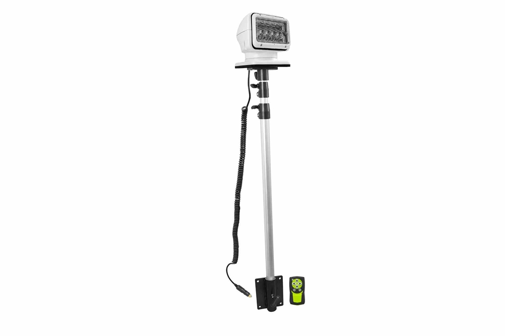 golight led spotlight on telescoping pole mount  u0026 mounting