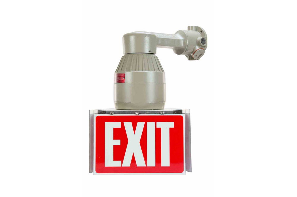 42w explosion proof compact fluorescent exit sign 750. Black Bedroom Furniture Sets. Home Design Ideas