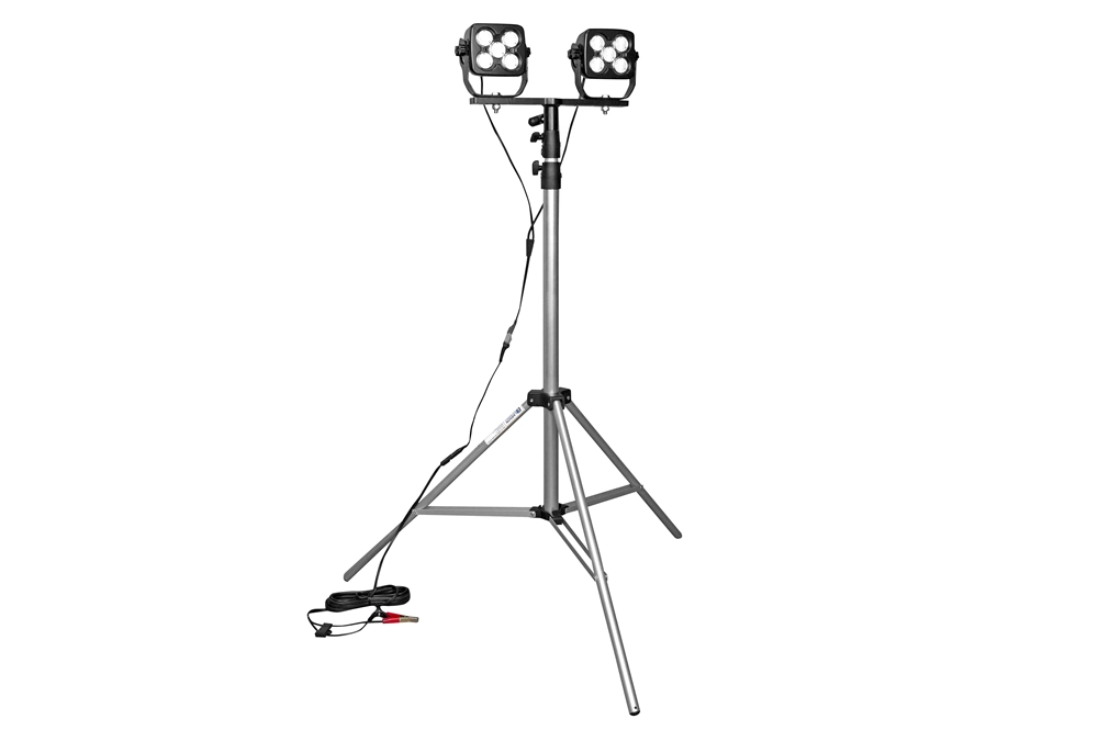 100w dual led work light w   adjustable tripod mount