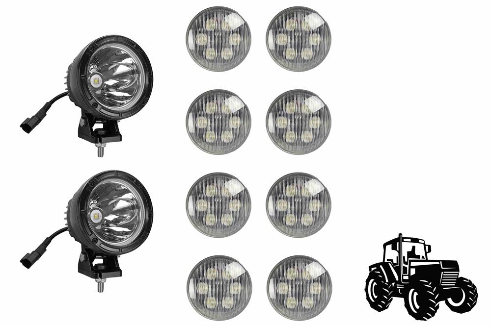 led cab light upgrade kit for john deere 4040 tractors 8 led18w rh larsonelectronics com