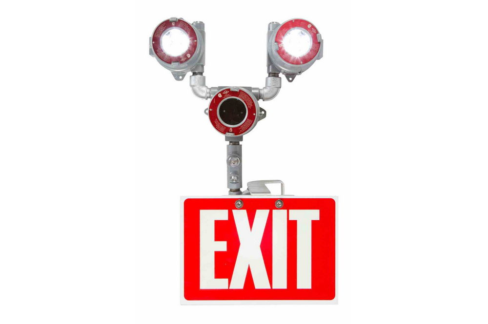 Explosion Proof Bug Eye Emergency LED Exit Fixture