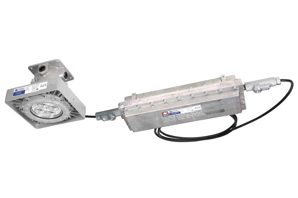 C1d1 Explosion Proof High Bay Led Fixture W Emergency Battery Backup Paint Spray Booth Roved