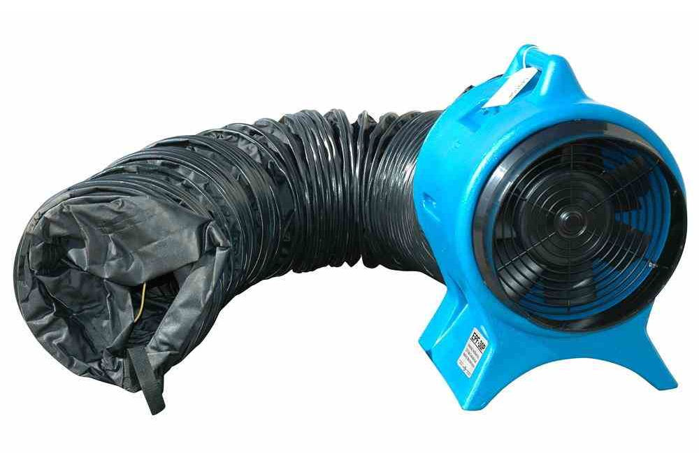 Explosion Proof Fan >> Intrinsically Safe Blower Ventilator 25 Foot Static Conductive Duct Redirects Stale Work Area Air