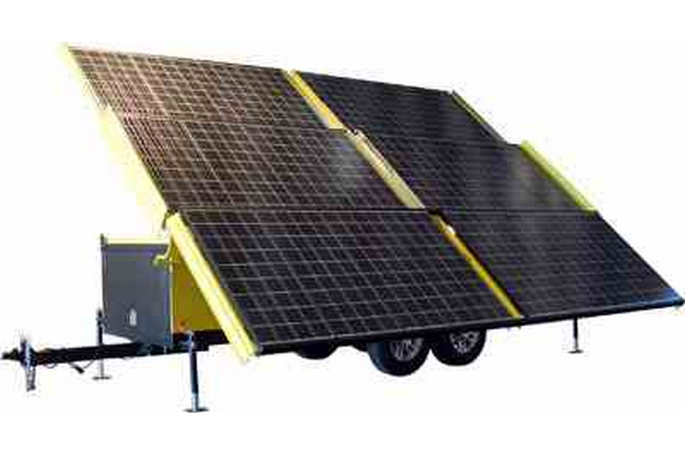 Solar Powered Generator - 18 Kilowatt Max Output - 120/240VAC 3 Phase - 19' Trailer Config