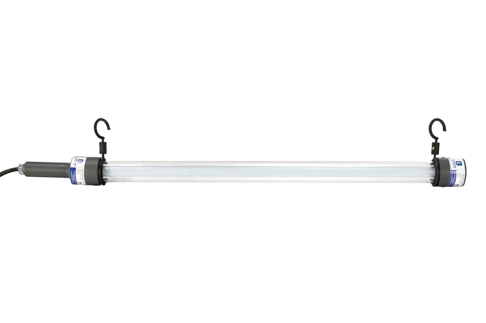 14 watt led drop light task light with hanging hooks 50 39 cord 3 39 tube led shelter light. Black Bedroom Furniture Sets. Home Design Ideas