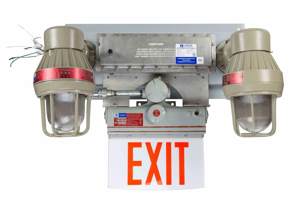Explosion Proof Led Bug Eyes With Exit Sign C1d1