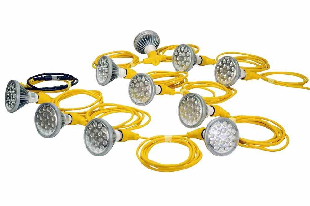 250 Watt Temporary Construction String Light 10 Led Par