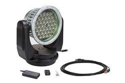 80 Watt Wireless Remote Control LED Spotlight - 24 Volt DC or 120-220V AC - Spot to Flood