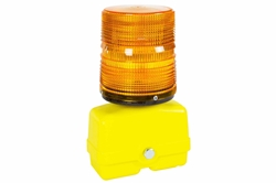 Heavy Duty Portable Warning Light - Amber Battery Powered Strobe - Visual Safety Signal Light