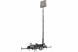 50' Pneumatic Megatower™ on 21 Foot Trailer - (16) 500 Watt LED Lights - 11KW Genset - 110 Gallons