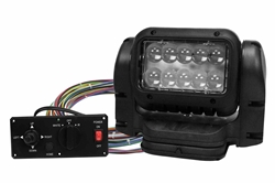 24 Volt Visible/Infrared LED Remote Control Spotlight - Magnetic Mount - Dash Remote