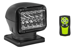 36 Watt Golight Stryker Wireless Remote Control LED Spotlight - 24 Volt DC - Black - Permanent Mount