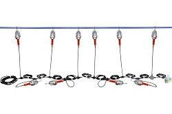 Luces LED String a prueba de explosiones 48V - Luz 10 - Conexión en cadena tipo margarita - Conexión 2 - Fin - 100ft Stringer